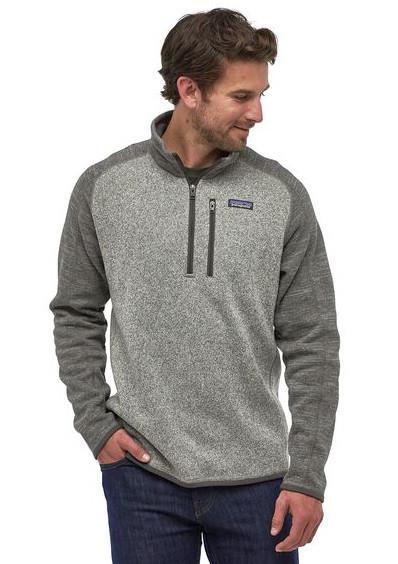 Patagonia Adult Unisex Better Sweater 1/4 Zip Pullover Fleece Jacket, S Grey