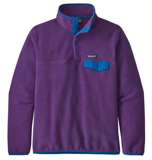 Patagonia Womens Lw Synchilla Snap-T Women's Pullover, M Purple