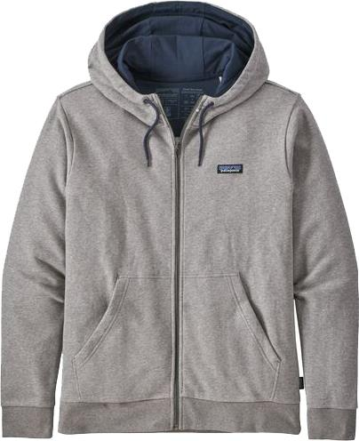 Patagonia P-6 Label French Terry Full Zip Hoody, XL Grey