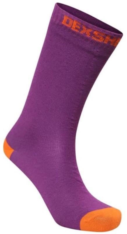 DexShell Ultra Thin Crew Waterproof Socks, UK 3-5 Purple/Orange