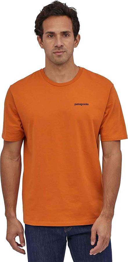 Patagonia P-6 Logo Organic T-Shirt, XXL Desert Orange