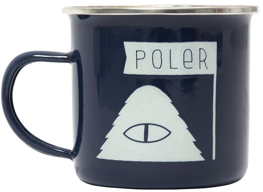Poler Camp Mug Classic Enamel Camping Cup, 414ml Navy