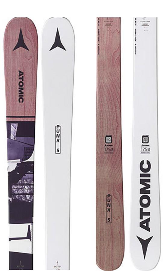 Atomic Punx Five Ski Only Skis, 175cm Grey/Brown