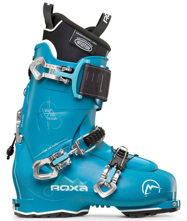 Roxa R3W 105 TI I.R. GripWalk Women's Ski Boots, 24/24.5 Petrol 2022