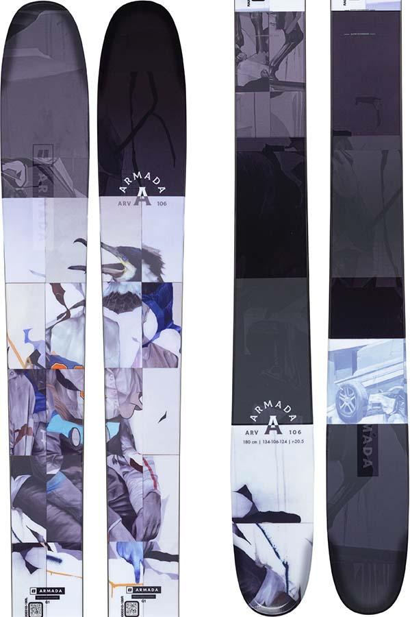 Armada ARV 106 Skis 180cm, Blue/Black, Ski Only, 2022