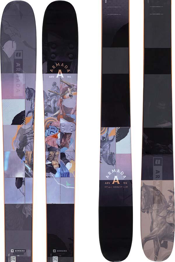 Armada ARV 96 Skis 170cm, Grey/Blue, Ski Only, 2022