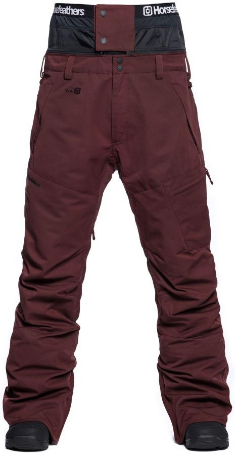 Horsefeathers Charger Ski/Snowboard Pants, L Raisin