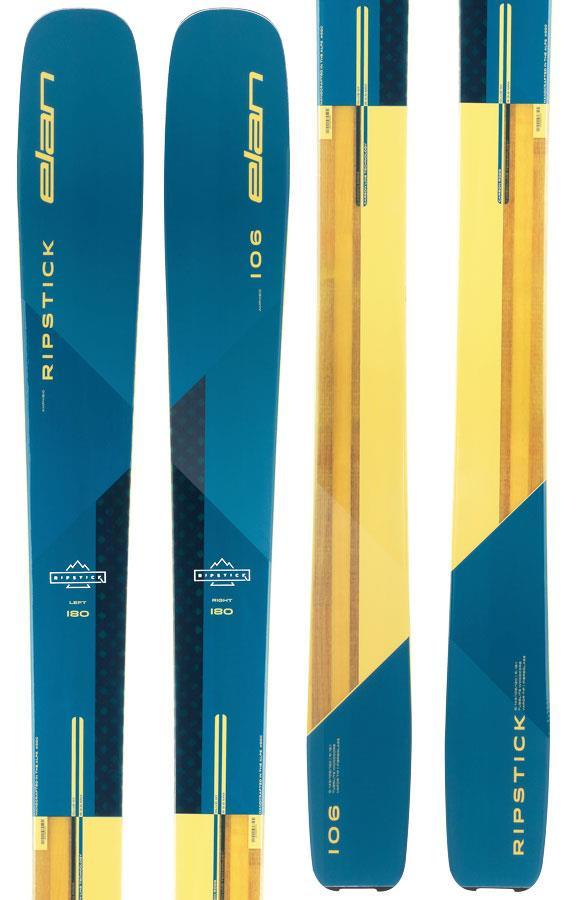Elan Ripstick 106 Ski Only Skis, 188cm Blue/Yellow