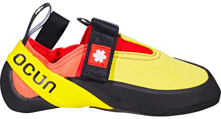 Ocun Rival Kid's Rock Climbing Shoe, UK 4.5   EU 37.5 Yellow/Red