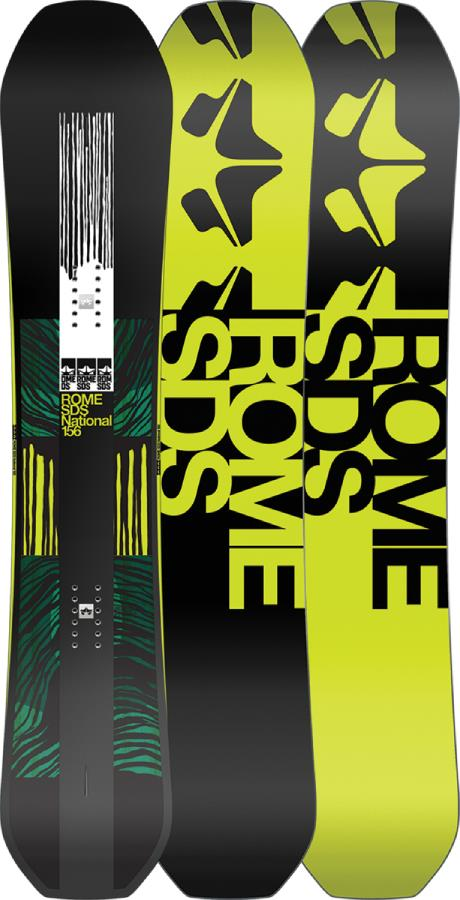 Rome National Positive Camber Snowboard, 158cm 2021