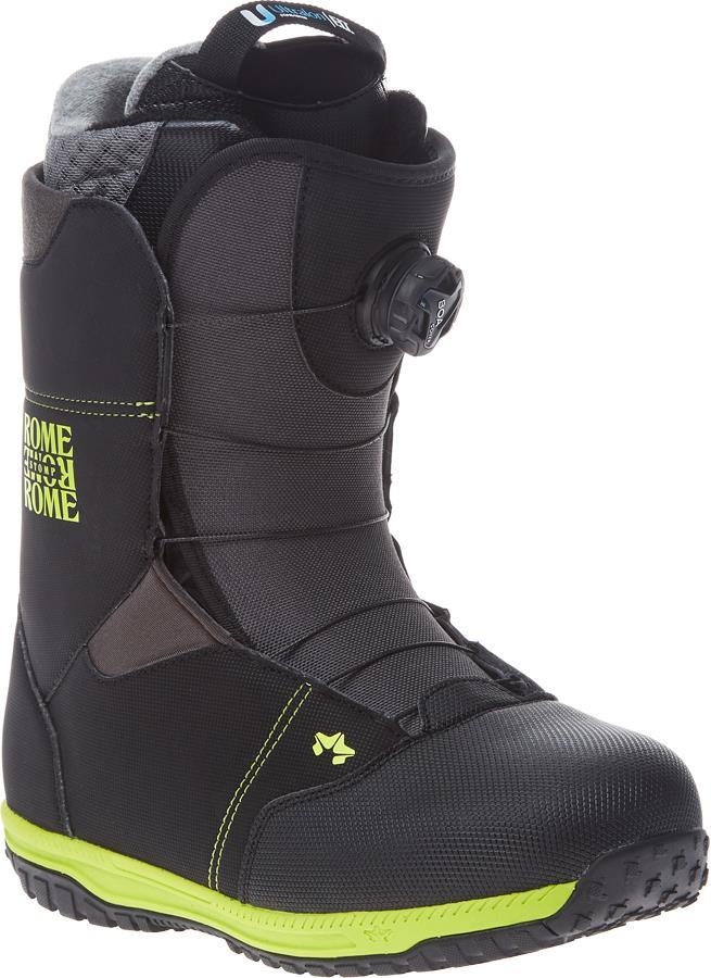 Rome Stomp BOA Snowboard Boots UK 8 Black 2021