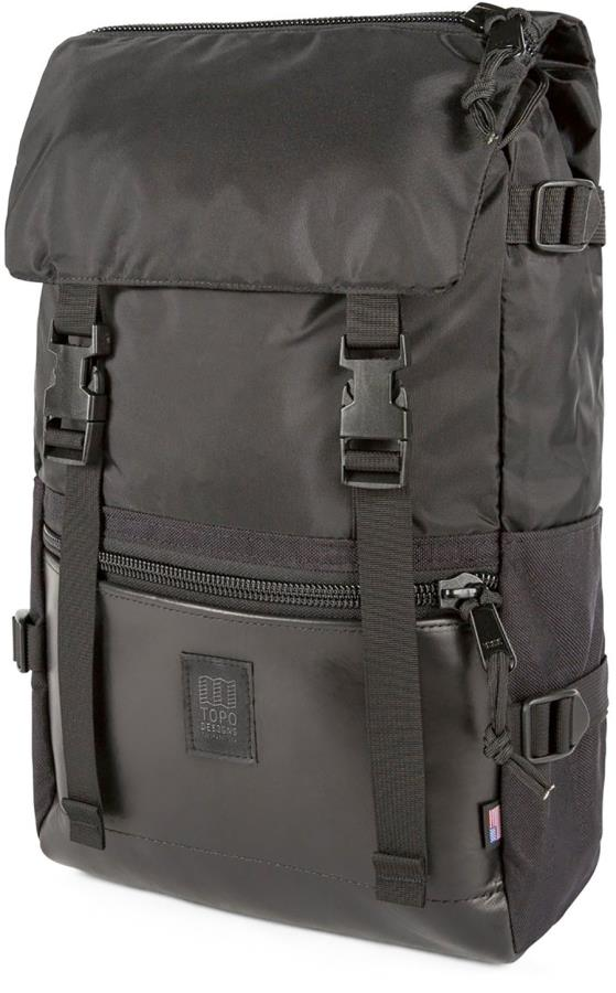 Topo Designs Rover Pack Heritage Outdoor Daypack, 20L Black