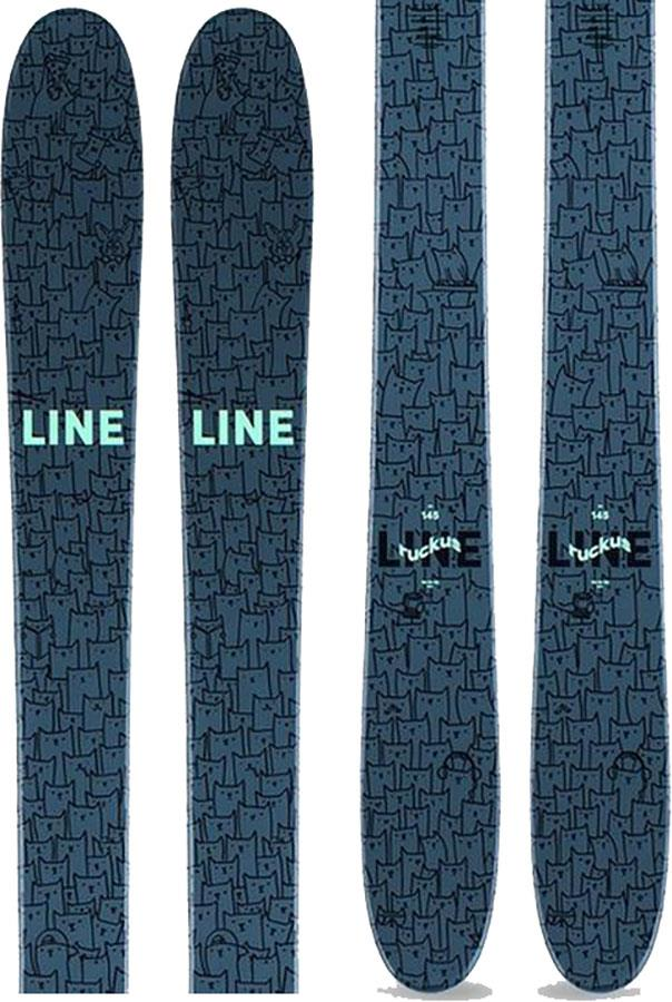 LINE Ruckus Ski Only Kid's Skis, 145cm Blue/Teal 2021