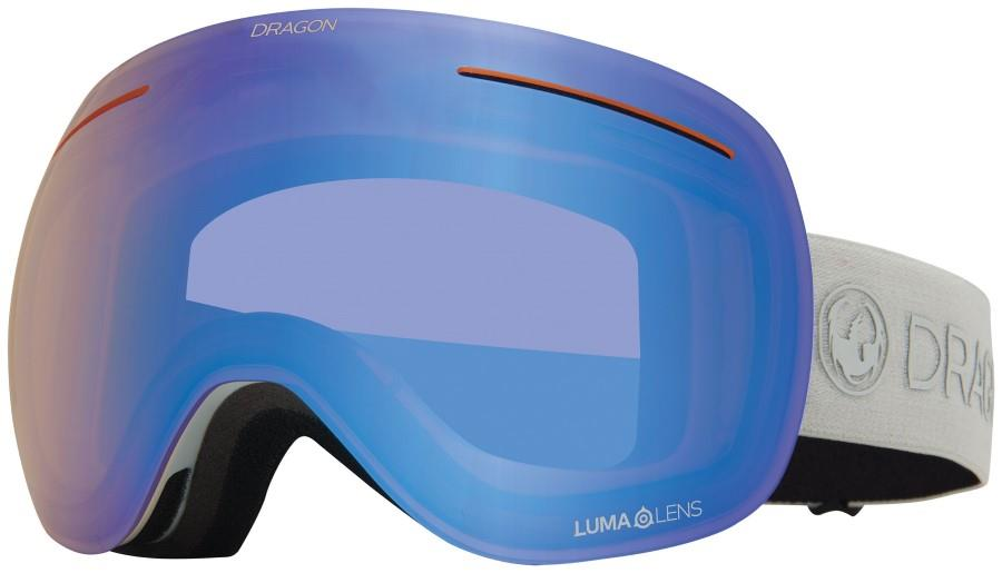 Dragon X1 LumaLens Flash Blue Snowboard/Ski Goggles, L Salt