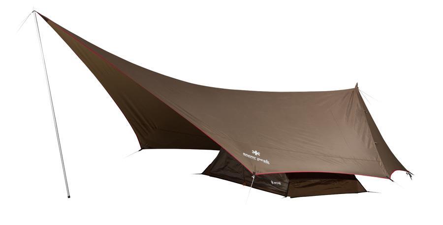 Snow Peak Hexa Ease 1 Tarp & Tent Camping Combo, 1 Man Bark