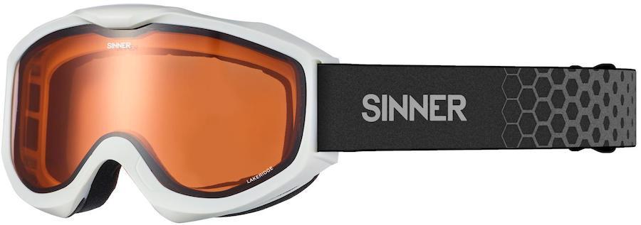 Sinner Lakeridge Orange Ski/Snowboard Goggles, M Matte White