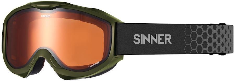 Sinner Lakeridge Orange Ski/Snowboard Goggles, M Matte Moss Green