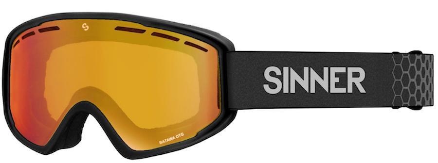 Sinner Batawa OTG Full Orange Snowboard/Ski Goggles, L Matte Black
