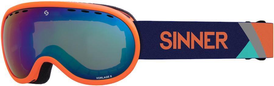 Sinner Vorlage S Full Blue Ski/Snowboard Goggles S Matte Orange