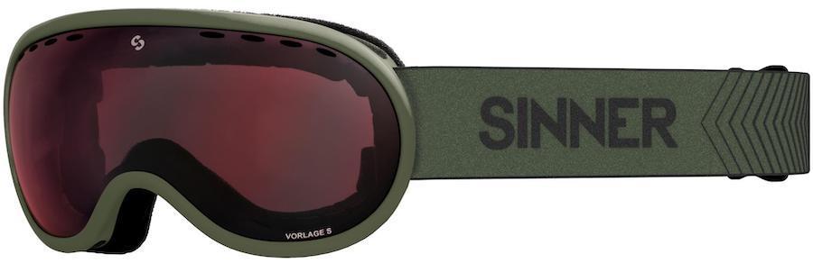 Sinner Vorlage S Full Red Ski/Snowboard Goggles S Matte Moss Green