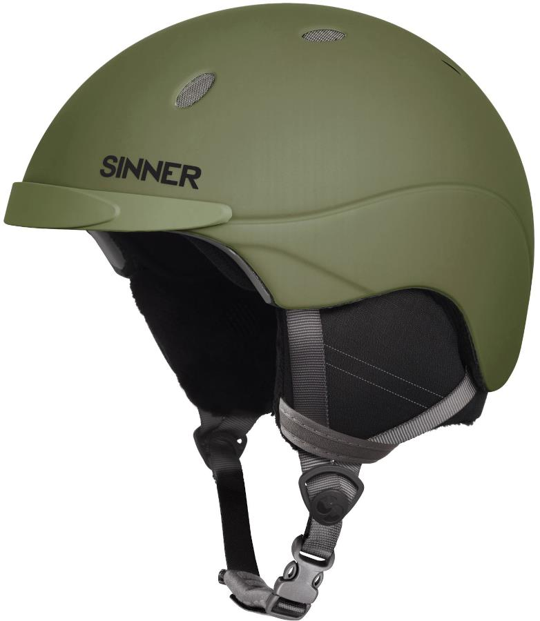 Sinner Titan Ski/Snowboard Helmet, M Matte Moss Green