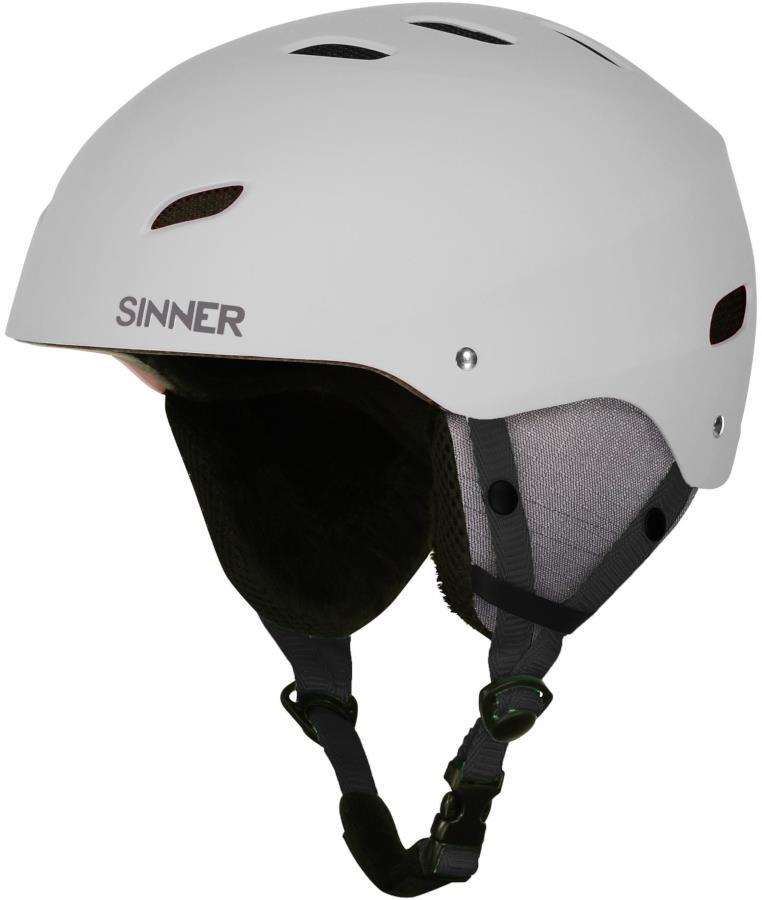 Sinner Bingham Ski/Snowboard Helmet S Matte White