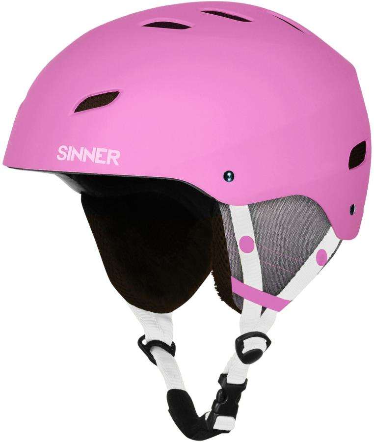 Sinner Bingham Ski/Snowboard Helmet M Matte Pink