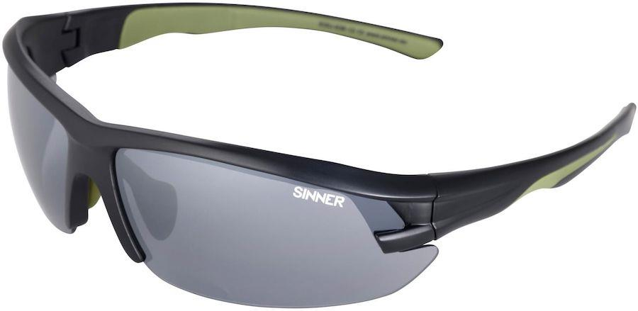 Sinner Speed PC Smoke Flame Sports Wrap Around Sunglasses Matte Black
