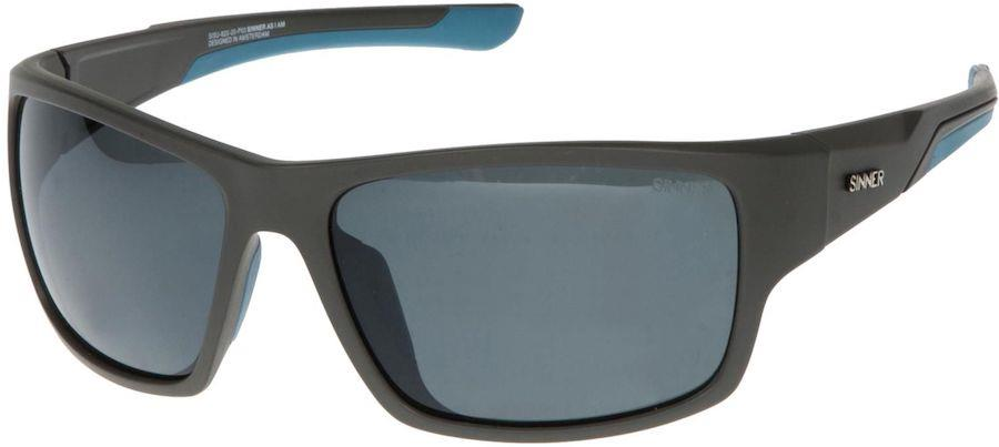 Sinner Lemmon Sport Silver Mirror Wayfarer Sunglasses Matte Dark Grey