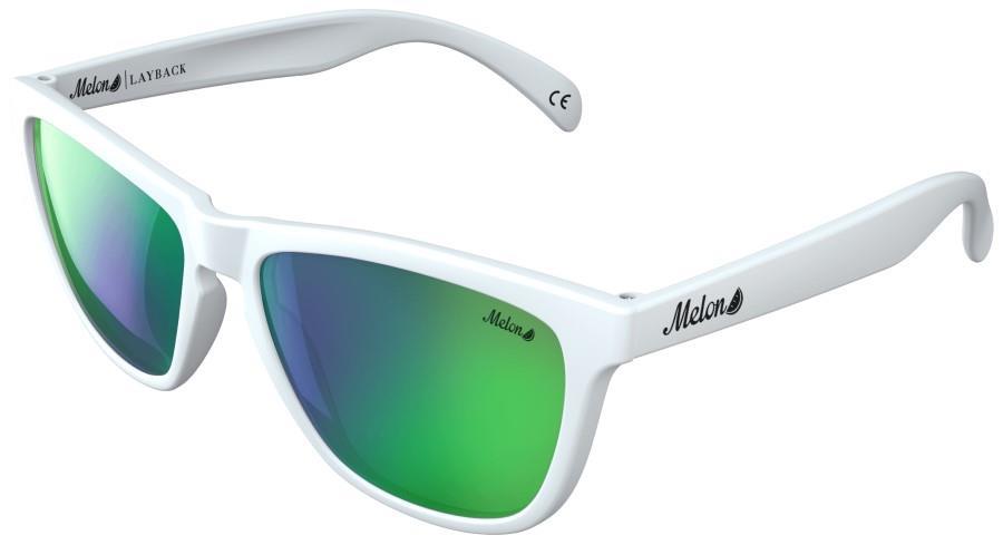 Melon Layback Green Chrome Polarized Sunglasses, M Spearmint