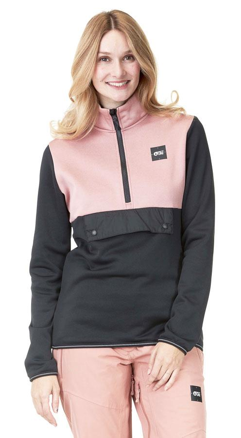 Picture Gates Pullover Women's Polartec Fleece, M Pink/Black