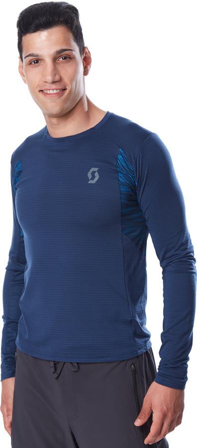 Scott Trail Run L/SL Long Sleeve Running T-Shirt, M Midnight Blue