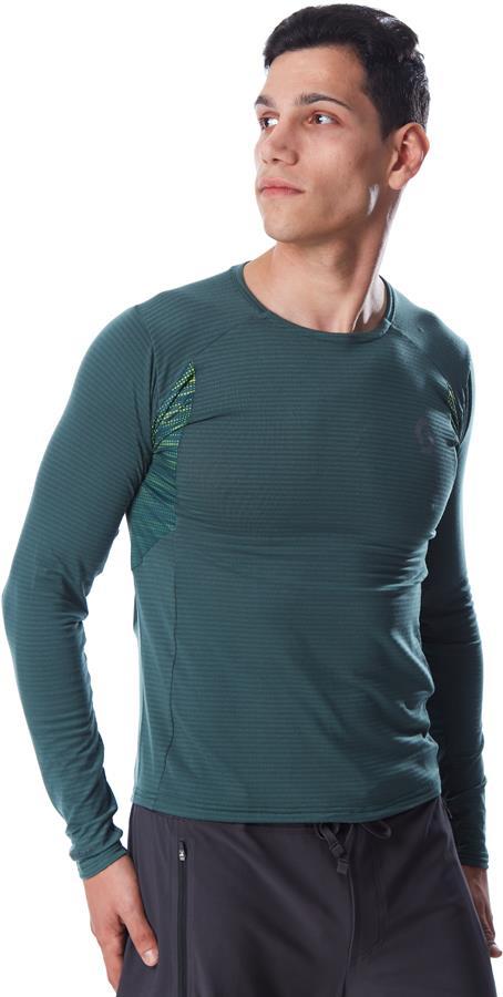 Scott Trail Run L/SL Long Sleeve Running T-Shirt, XL Smoked Green