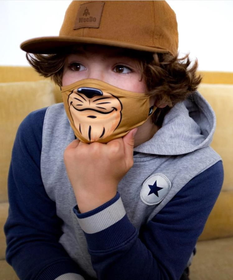 WeeDo Character Kid's Protective Reusable Face Mask, M Lion