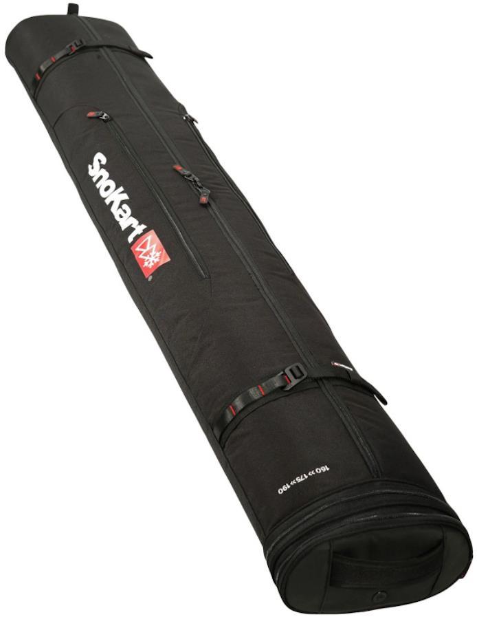 SnoKart Ski Zoom Extendable Ski Travel Bag 190cm Black