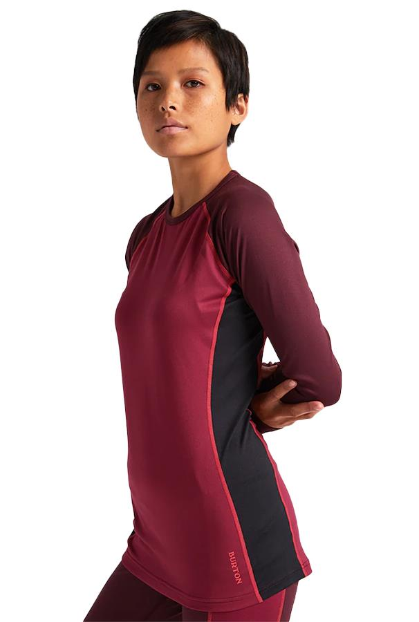 Burton Womens Midweight Crew X Women's Fast-Dry Thermal Top, Xs Port Royal/Spiced Rum