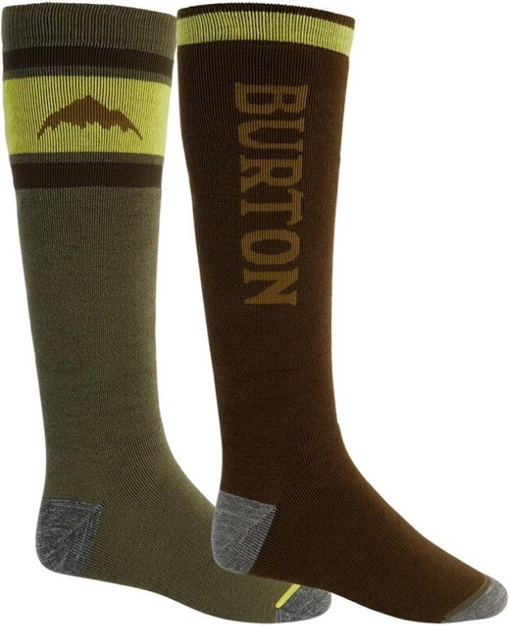 Burton Adult Unisex Weekend Mw 2pk Ski Socks, L Martini Olive