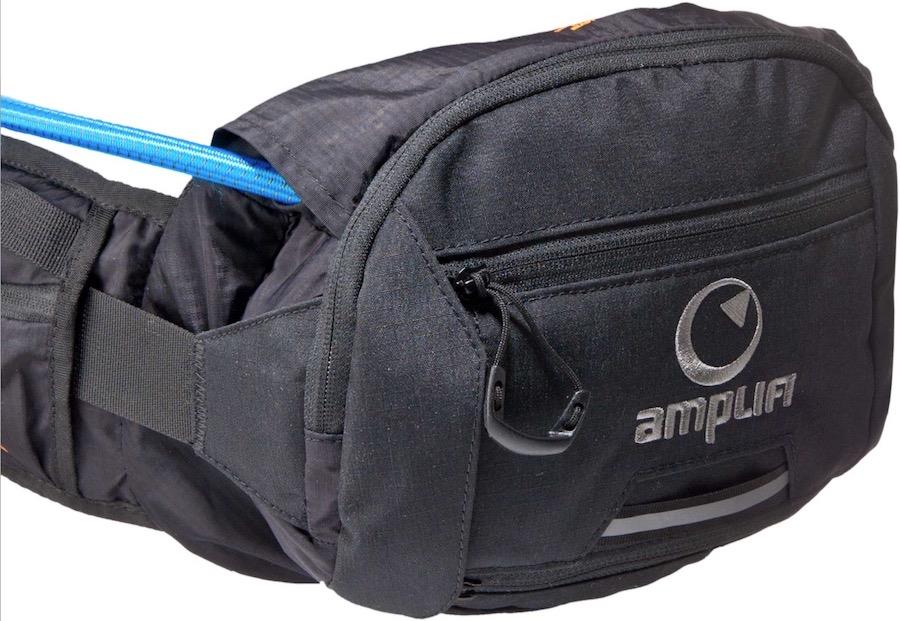 Amplifi Hipster4 Bum Bag With Hydration System, 4L Stealth Black