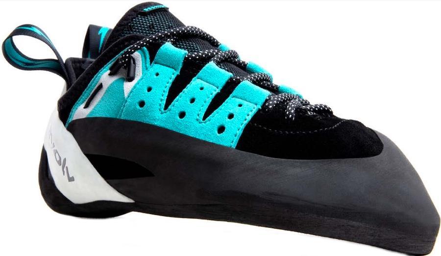 Evolv Geshido Lace Rock Climbing Shoe, UK 6 l EU 39.5 Black/Teal