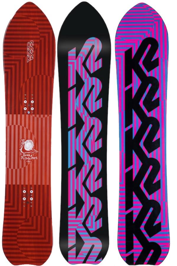 K2 Simple Pleasures Hybrid Camber Snowboard, 151cm 2021
