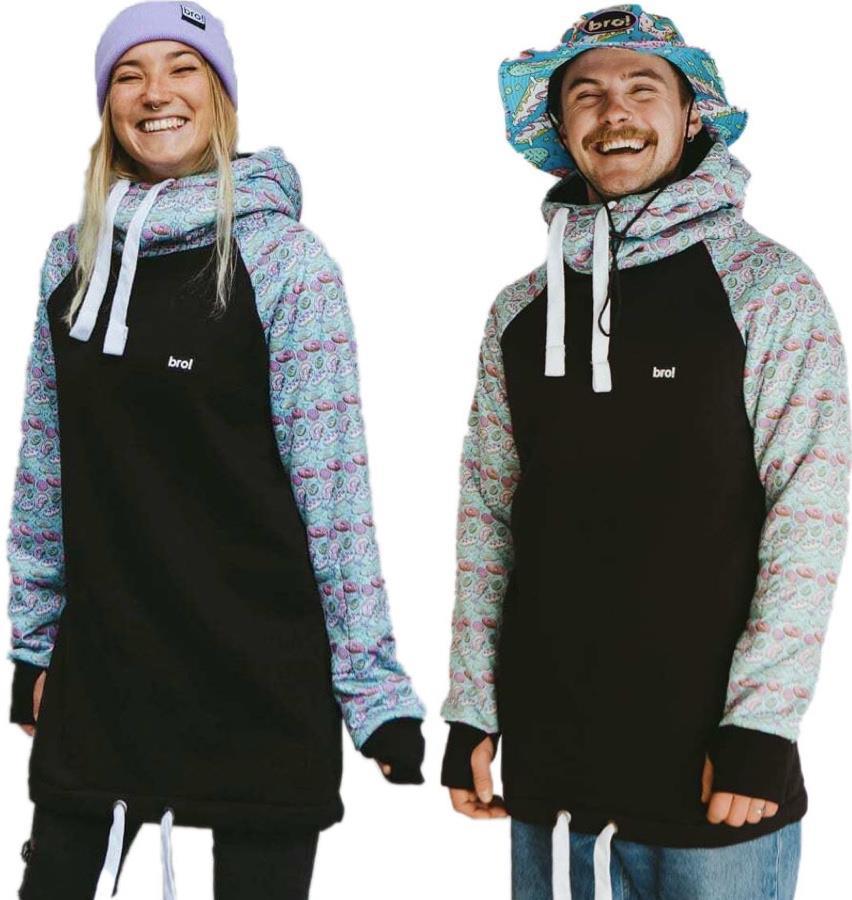 bro! Chill N'shred Unisex Ski/Snowboard Hoodie, M Bronuts Turquoise