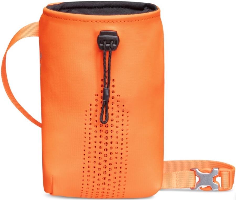 Mammut Sender Drawstring Rock Climbing Chalk Bag, Safety Orange