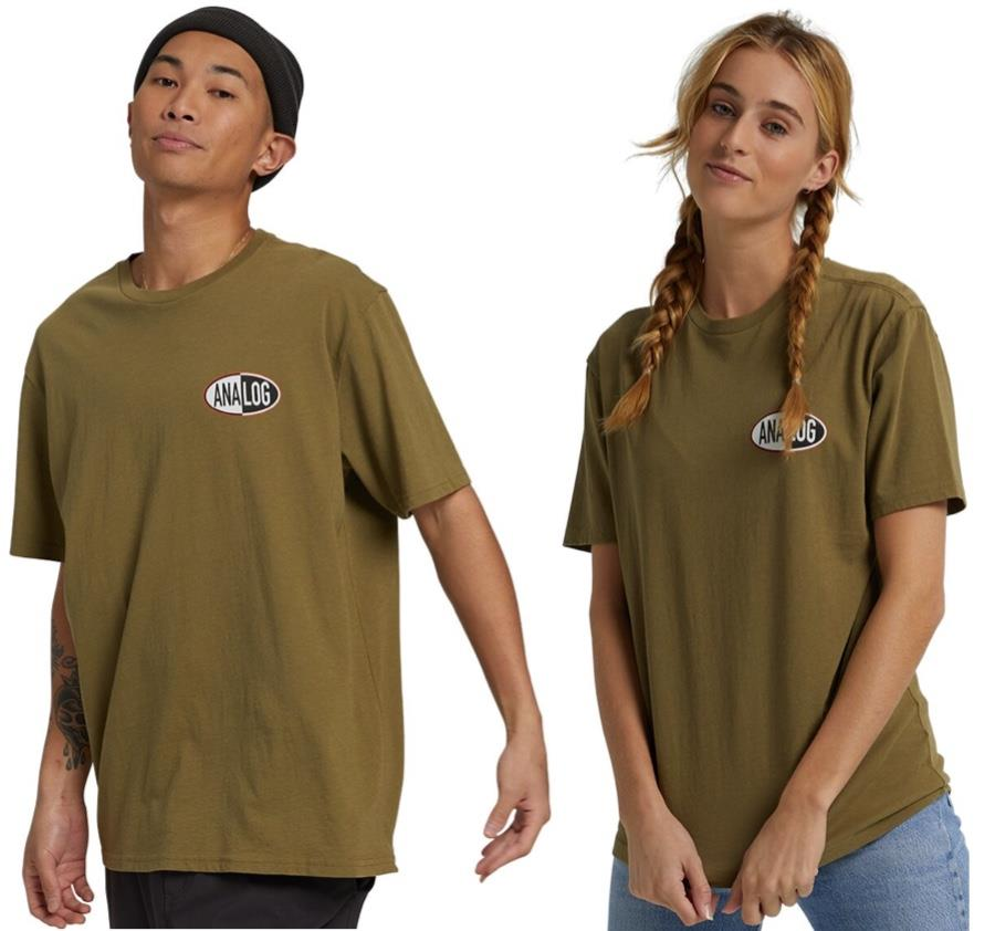 Analog Stunt Unisex Short Sleeve T-Shirt, M Martini Olive