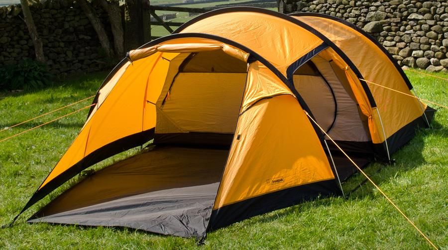 Snugpak Journey Quad Tent Camping Shelter, 4 Person Sunburst
