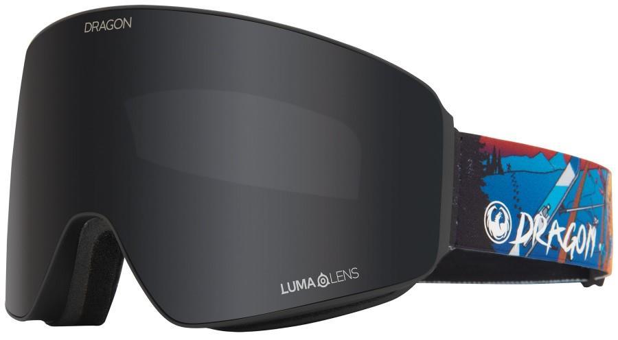 Dragon PXV LumaLens Dark Smoke Snowboard/Ski Goggles, L Teddy