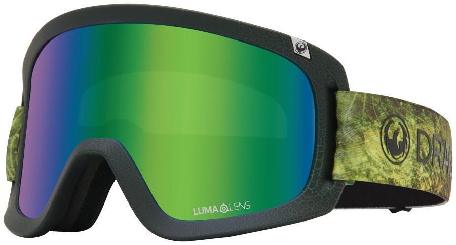Dragon D1 OTG LumaLens Green Ion Snowboard/Ski Goggles L Terra Firma