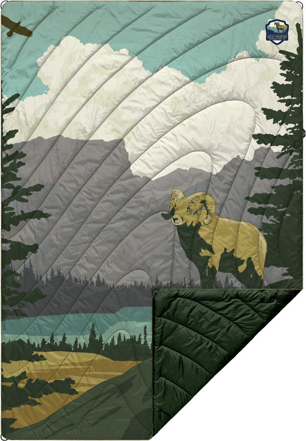 Rumpl Original Puffy Camping & Outdoor Blanket 1P Rocky Mountain