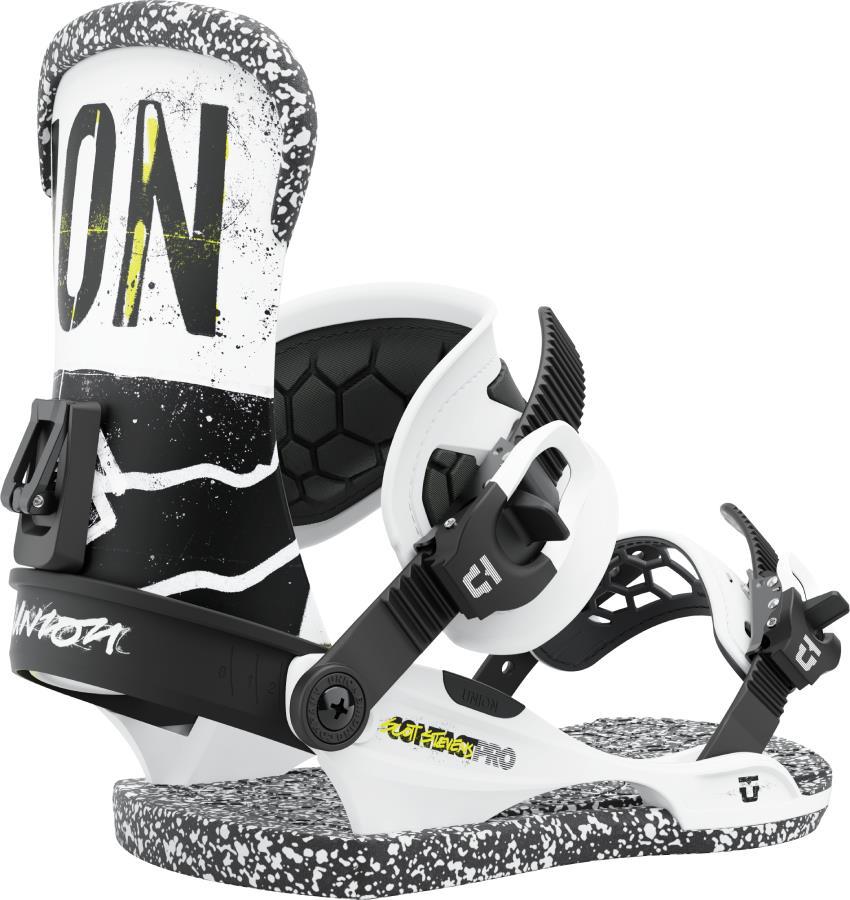 Union Contact Pro Scott Stevens Snowboard Bindings, M White 2022