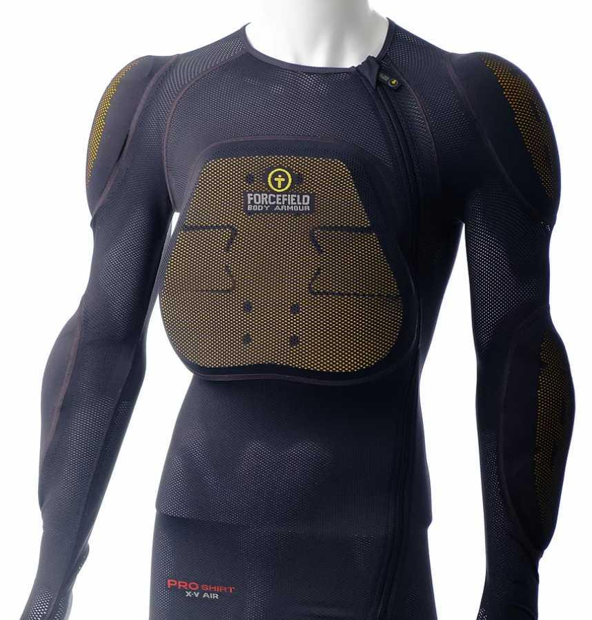 Forcefield Pro Shirt X-V 2 Air Motorbike Body Armour, S Charcoal