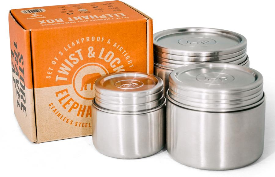 Elephant Box Twist & Lock Leakproof Food Canister Trio Containers